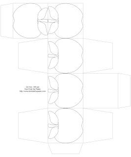 apple box to print, color and make