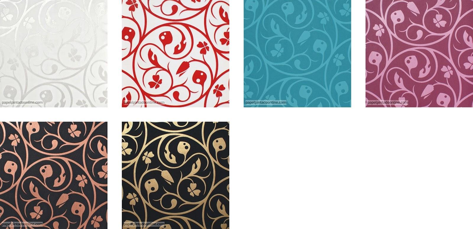 Papel pintado papel pintado lars contzen 3 for Papel pintado rojo y blanco