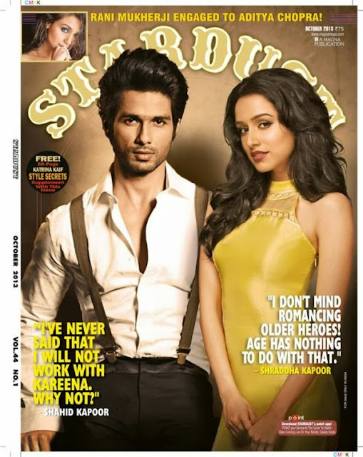 Shahid Kapoor & Shraddha Kapoor on the cover of Stardust