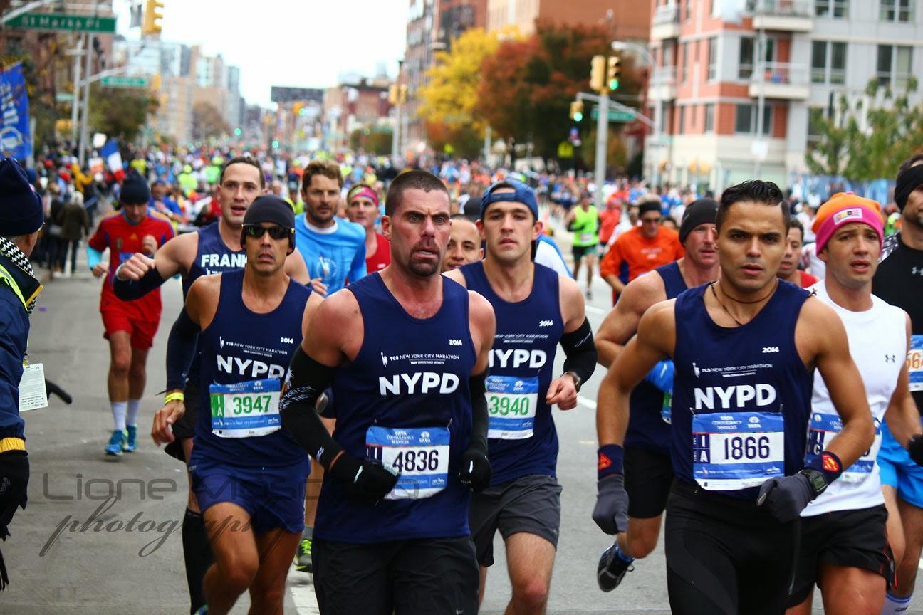 El Maratón de la Ciudad de Nueva York NYPD
