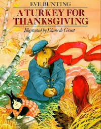 http://www.amazon.com/Turkey-Thanksgiving-Eve-Bunting/dp/0395742129