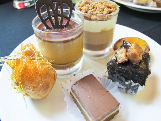 A plate of dessert samplers