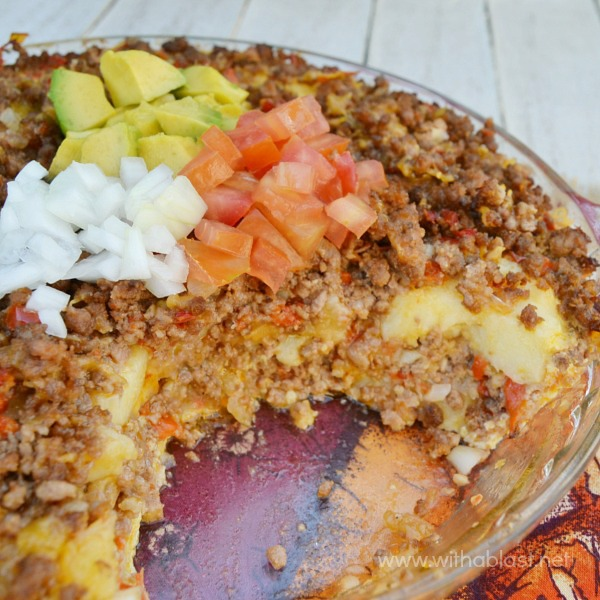 Cheesy ground beef and potato casserole with a blast layers of scrumptious potatoes ground beef cheese and more comfort food and such forumfinder Choice Image