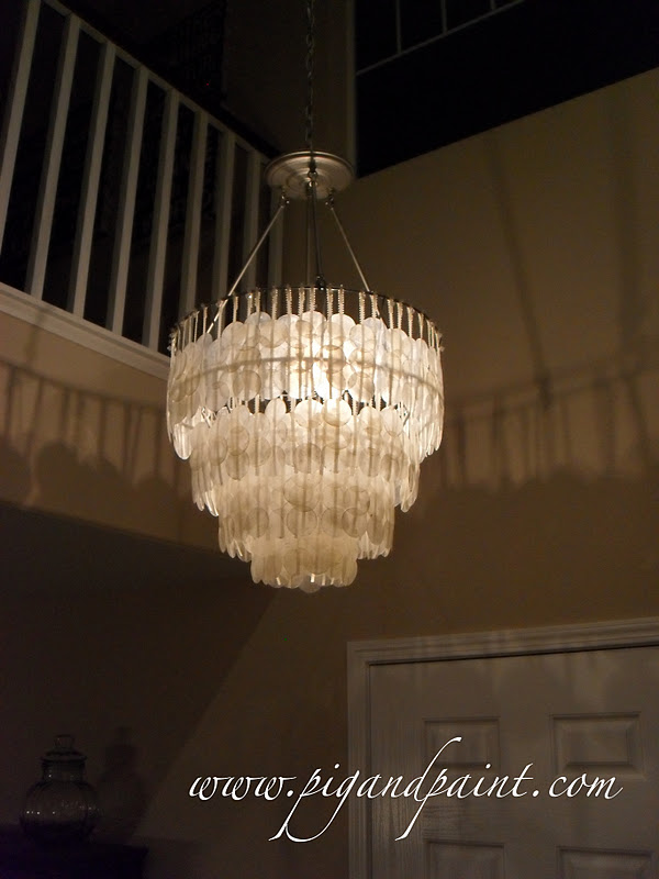 Pig and paint how to make a diy capiz shell chandelier aloadofball Image collections