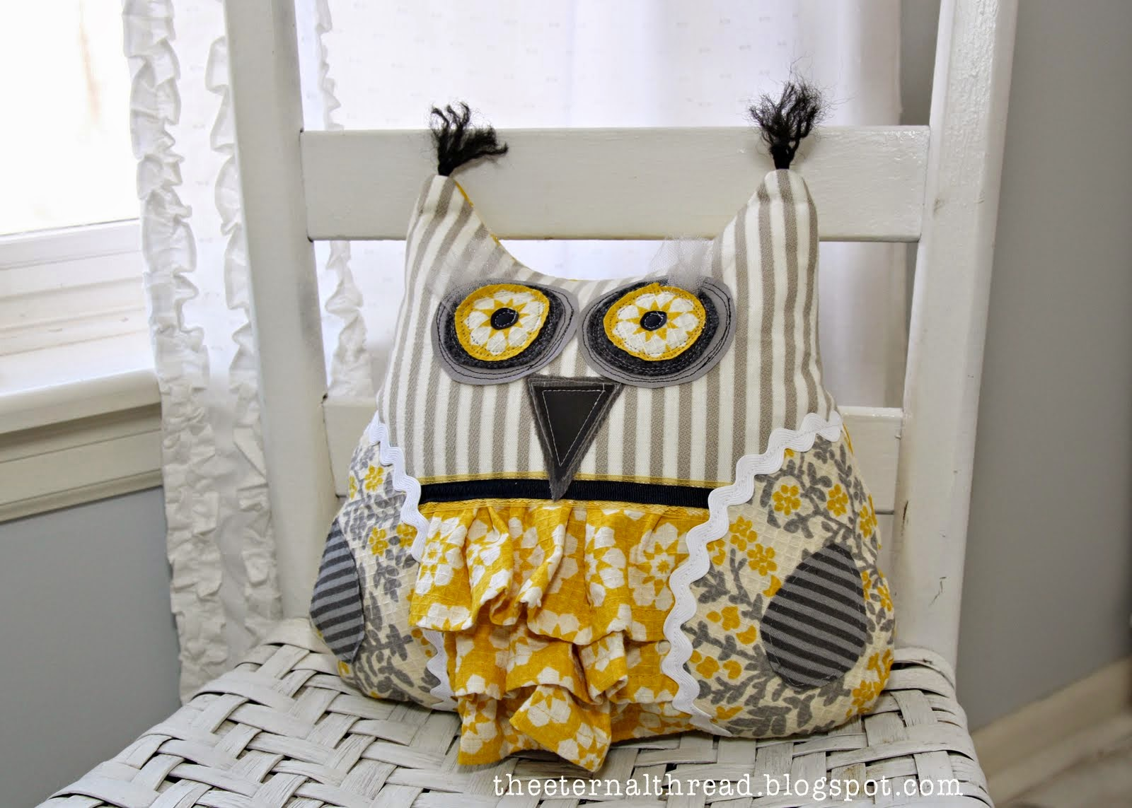 Free Owl Template Owl Cushion Project Free