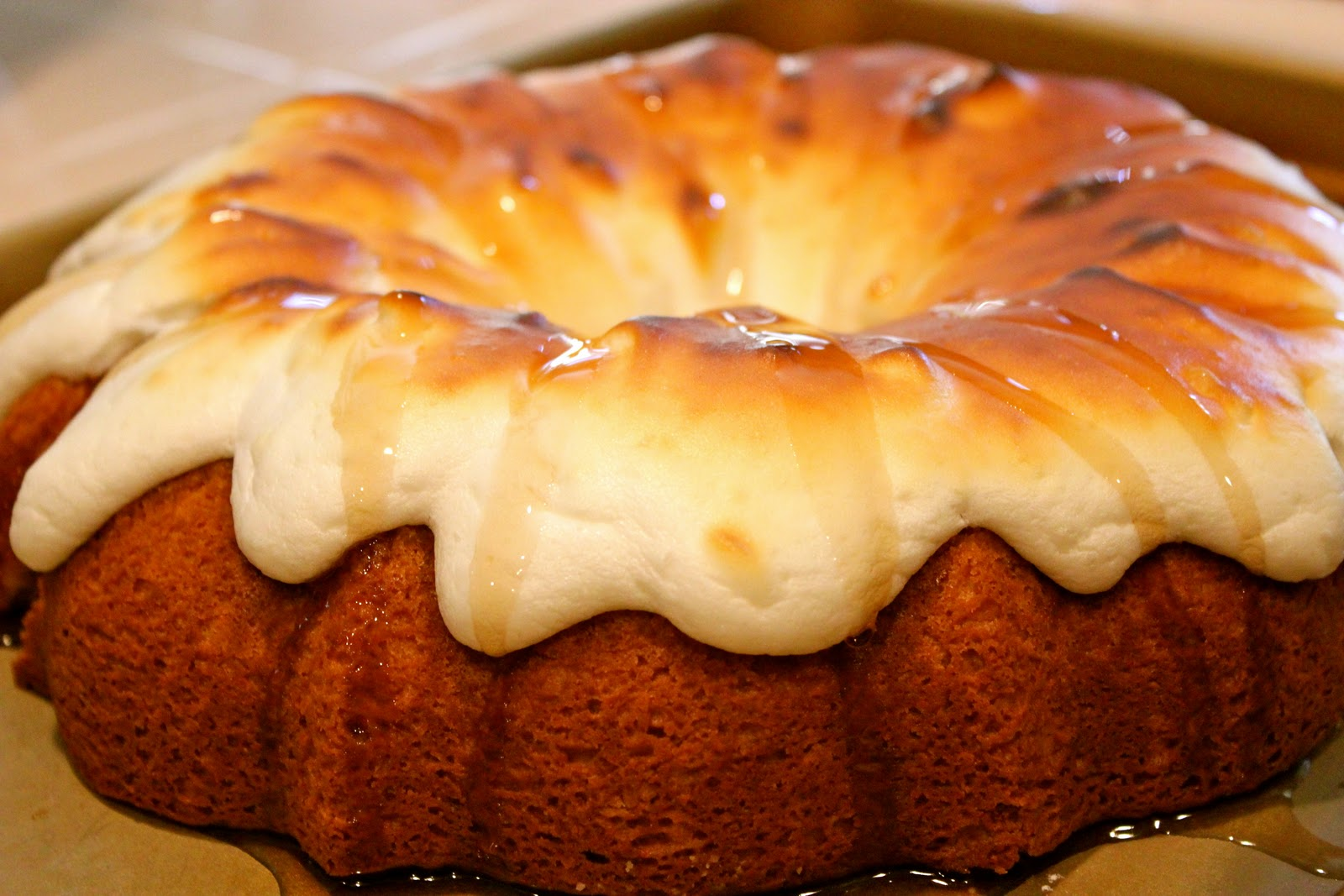 Harmony Household: Maple Bundt Cake with Meringue Topping