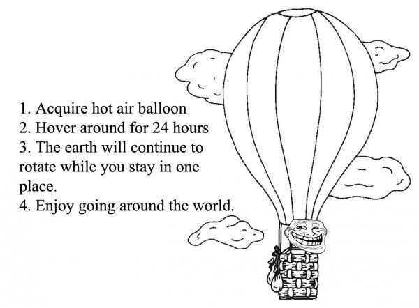 Troll Science - How To Enjoy Going Around The World With Hot Air Balloon