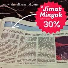 JIMAT MINYAK DENGAN JTX AIR TRACKER