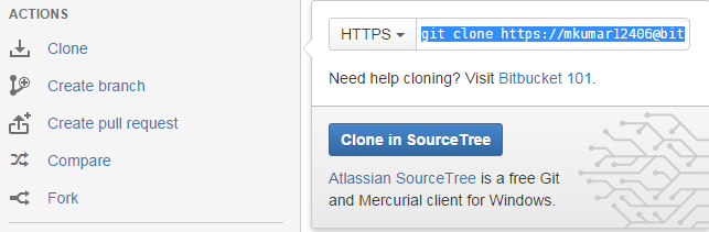 clone url gitbash