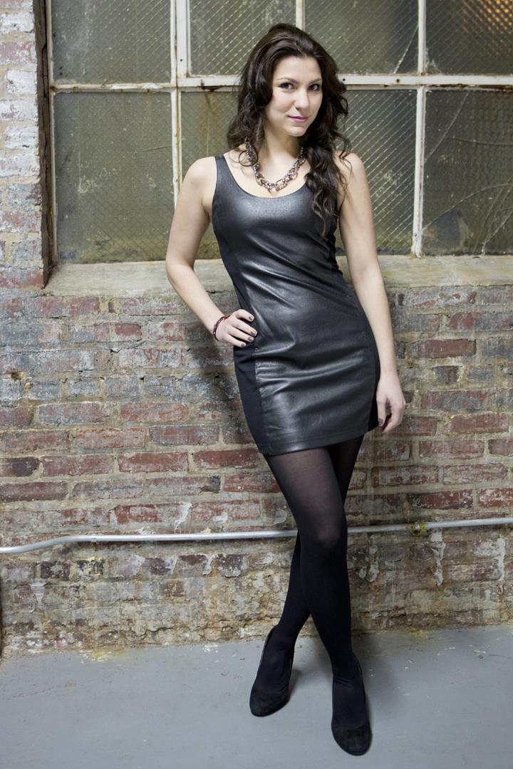 Lara Diamond: Little Black Leather Dress
