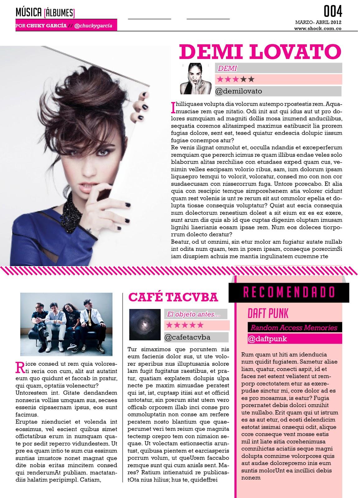 Diseño de Revistas y Periódicos | Taller práctico #3: Manejo de ...