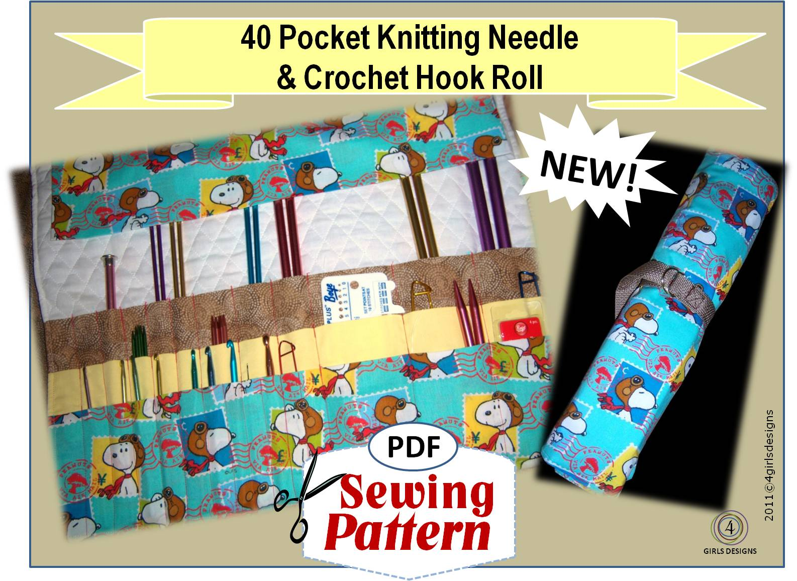 4 Girls Designs: NEW Sewing Patterns for Knitters, Crochet Artists, Painters,...