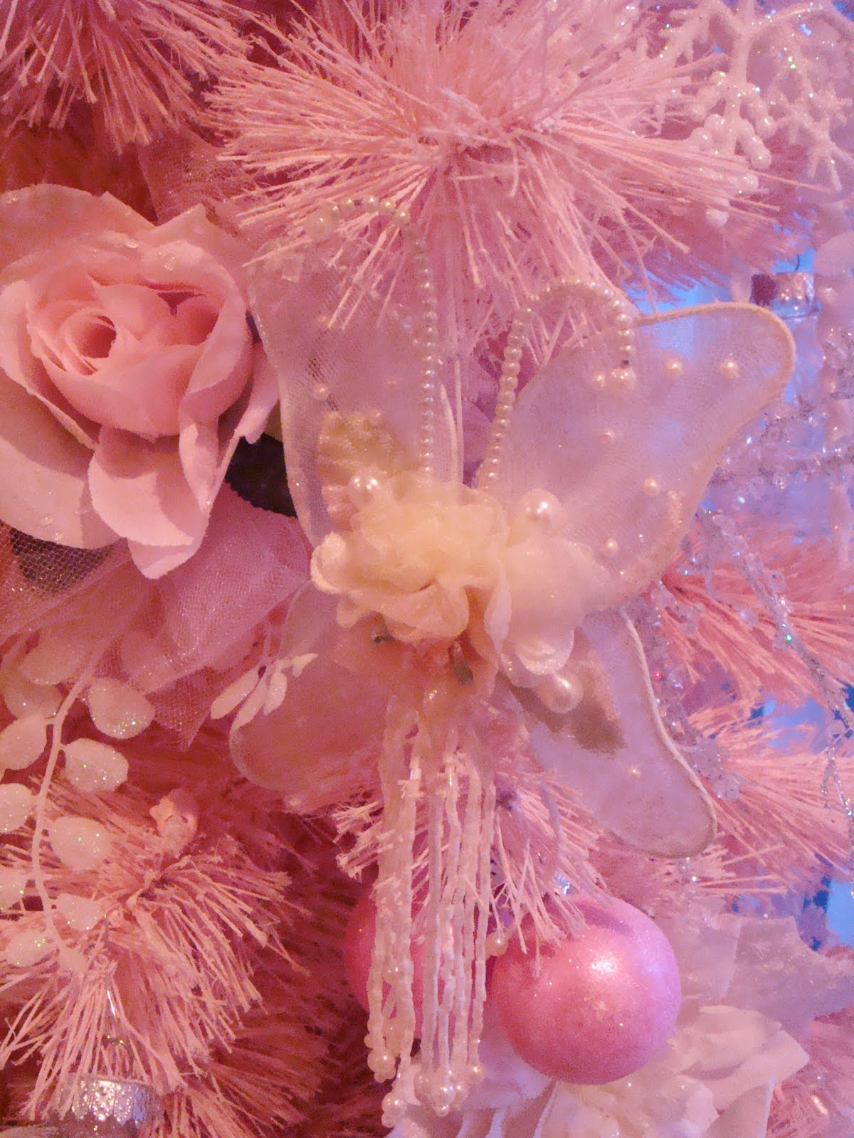 A pocket full of roses small pink christmas tree for Pink small tree