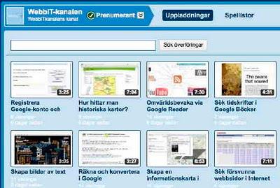 WebbIT-kanalen med svenska instruktionsvideor