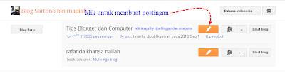 Cara Membuat Posting di Blog Baru