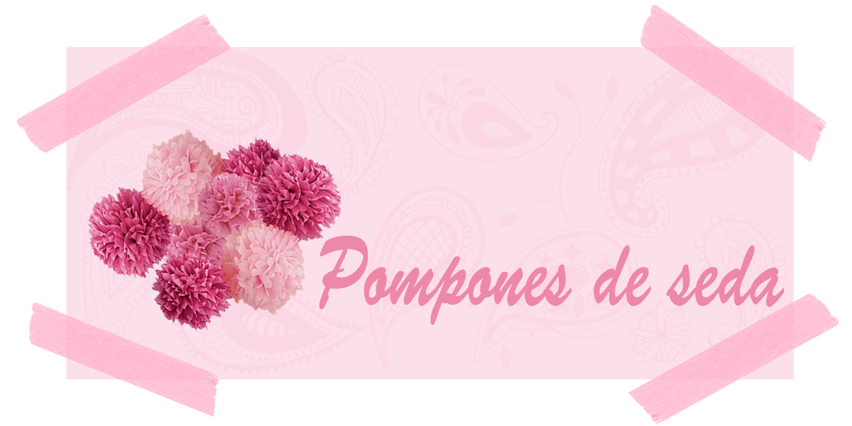 Pompones de seda