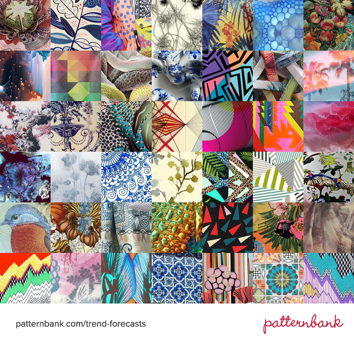 TRENDS - PATTERNBANK . S/S 2014 PRINT AND COLOUR