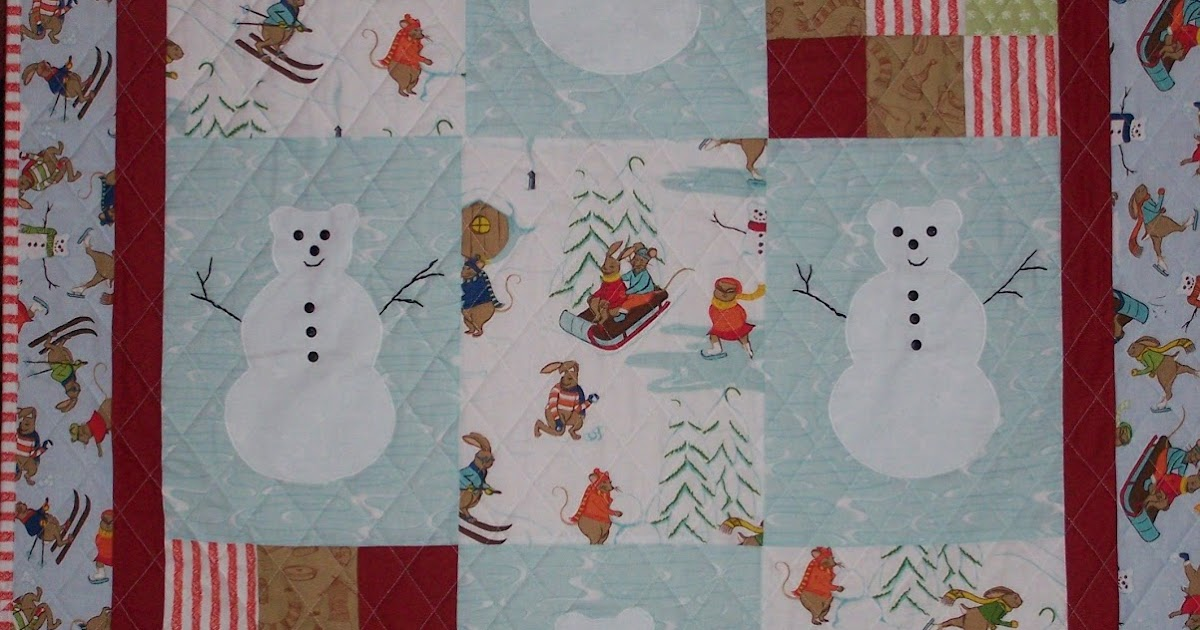 Busy Hands Quilts Snowmen Wall Hanging Quilt For Winter
