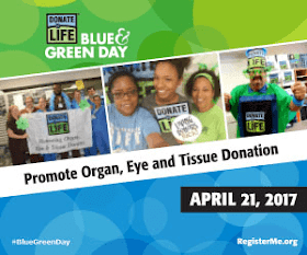 WEAR YOUR BLUE AND GREEN
