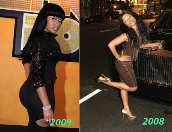 nicki minaj booty. nicki minaj booty before and