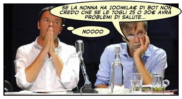 Tassazione rendite finanziarie 2014: Matteo Renzi e Graziano Del Rio