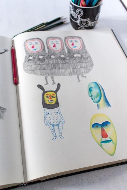 Mar Villar - Dibujos de máscaras 3