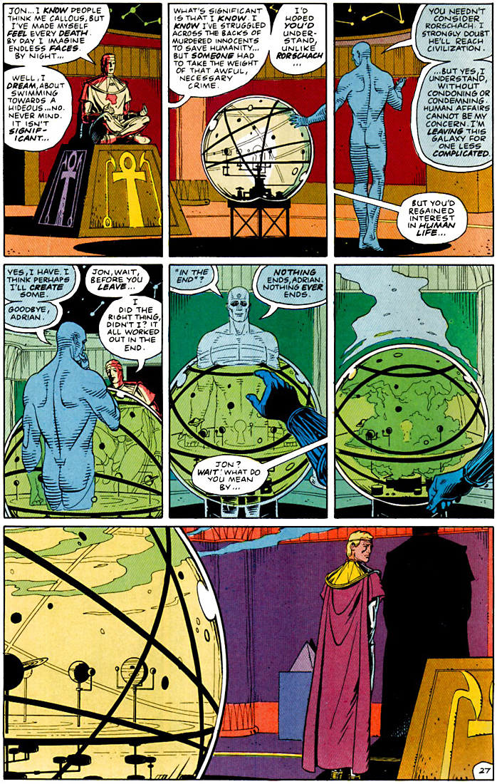 watchmen world war ii and dr In a world filled with many mindless and senseless graphic novels and comics, watchmen is an intelligent and thought-provoking creation, much much more than just entertainment a masterpiece, which does not really require a review.
