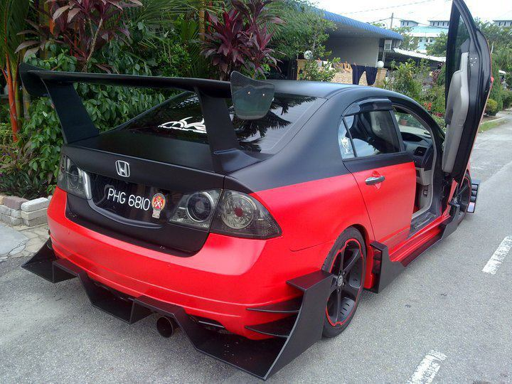 Bazbiz wallpaper car and drag modifications red and black for Honda black car