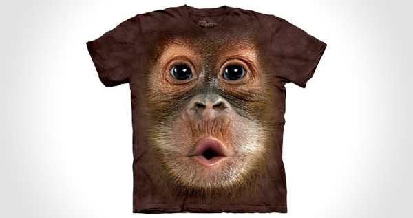 Big Face Baby Orangutan T-Shirt