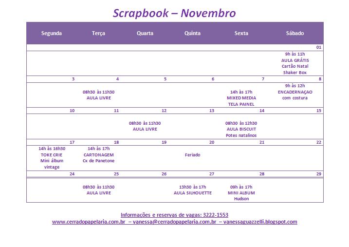 Calendário de Novembro/14