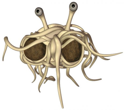 flying spaghetti moster