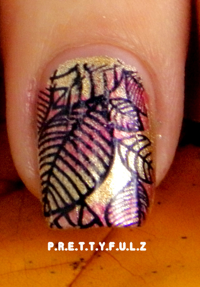 fall nail art design i wanted to do a leaf design but didn t want to
