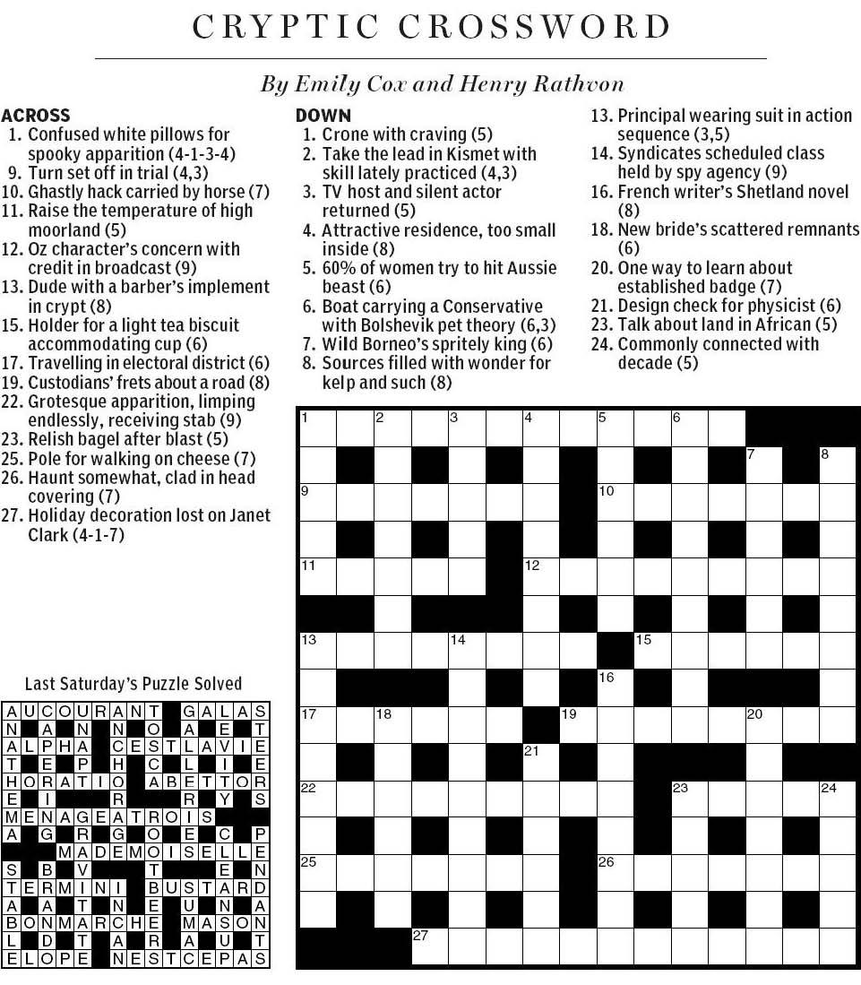 Puzzle Archive  Clue Search Puzzles