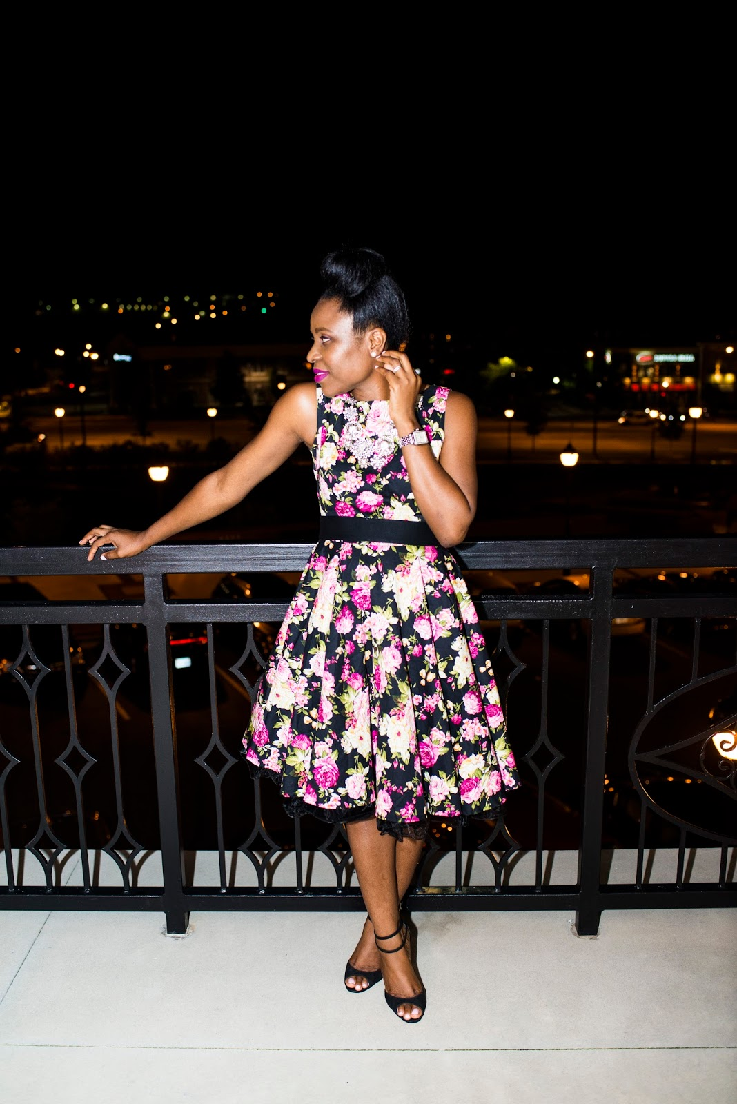 What to wear: Vintage floral dress