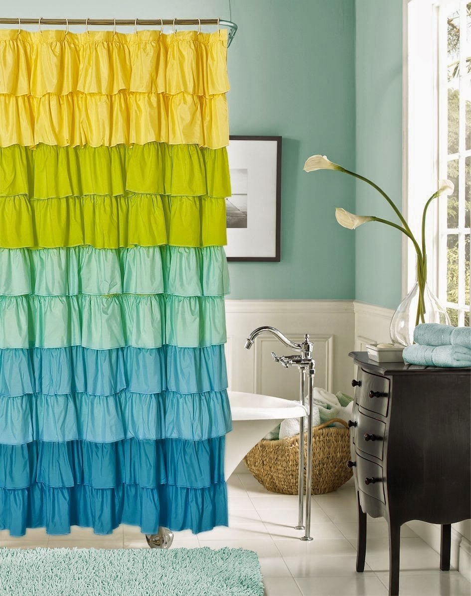 DIY Anthropologie Flamenco Shower Curtain