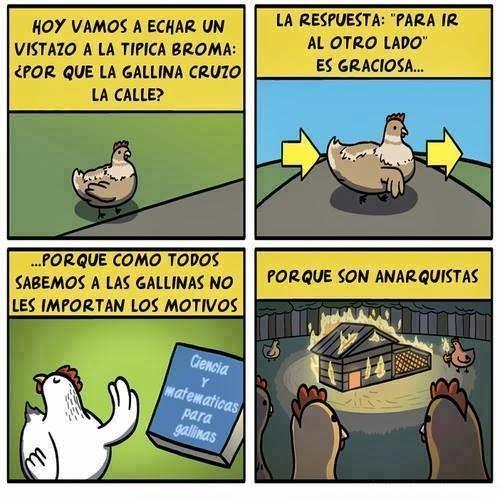 Por qué la gallina cruzo la calle