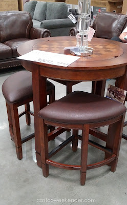 Universal Broadmoore Flannery Counter-Height Dining Set – Rubberwood and bonded leather