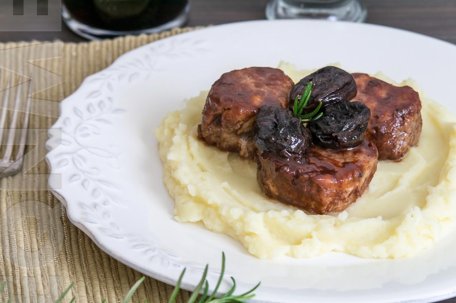 El que no mata engreixa solomillo de cerdo con salsa de - Carne con ciruelas pasas ...