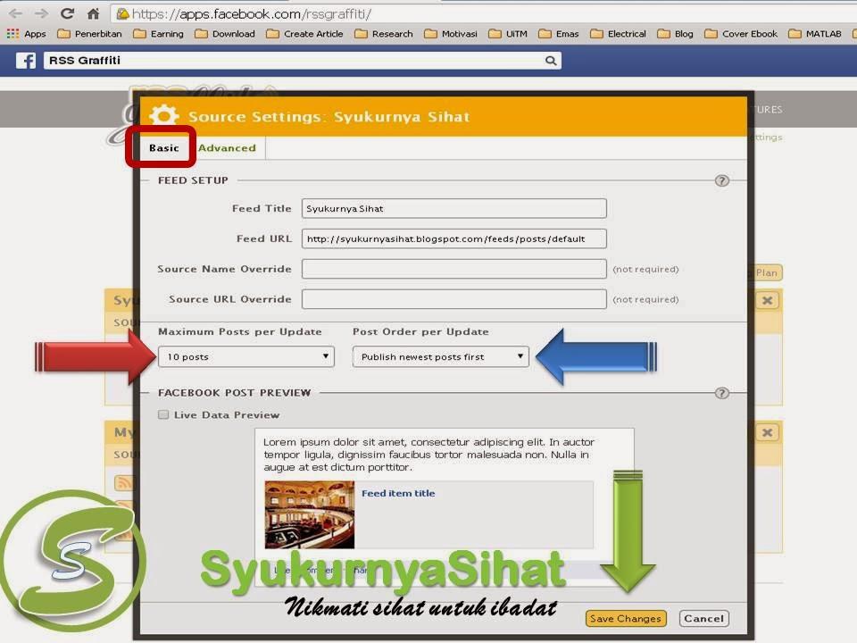 Cara Automatik Hantar Artikel Blog Ke Facebook5