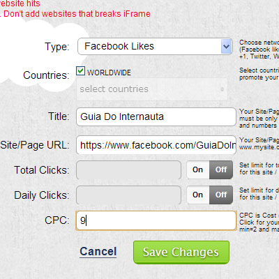 Configurando sua página