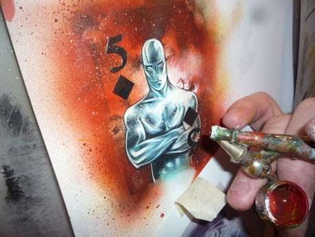 Silver Surfer, original art by Jeff Lafferty