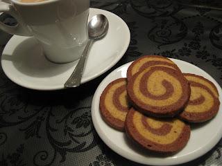 cookies de moka y chocolate