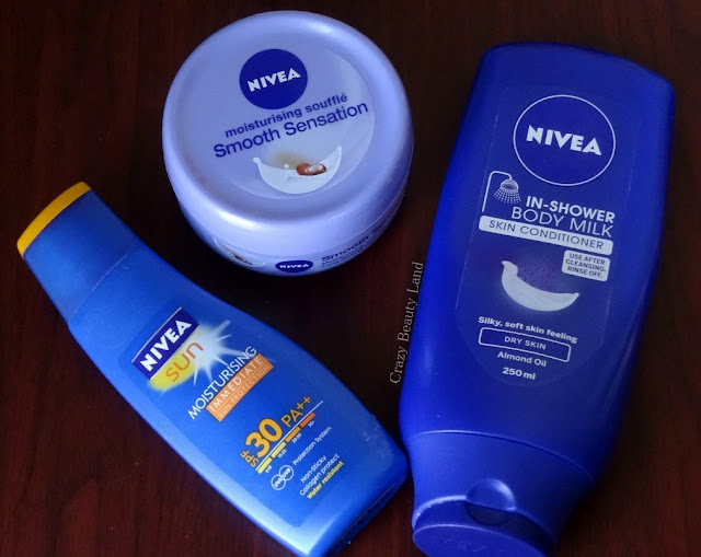 Nivea Smooth Souffle Indulging Body Creme with Shea Butter Nivea in Shower Body Milk (dry skin)