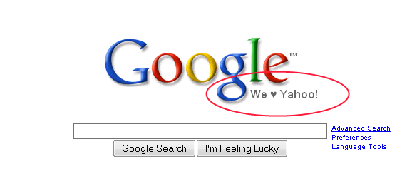 Modified Google Homepage