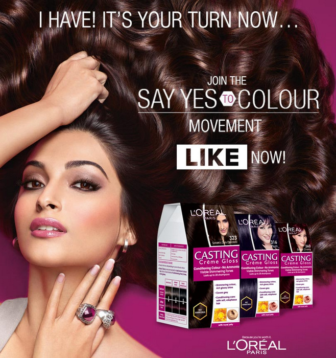 L'Oréal Paris Casting Creme Gloss Hair Color Ammonia-Free Conditioning Say Yes To Color Campaign Indian Beauty Makeup Blog