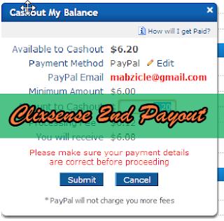 clixsense 2nd payout