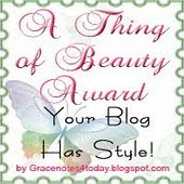 """A THING OF BEAUTY"" BLOG AWARD"