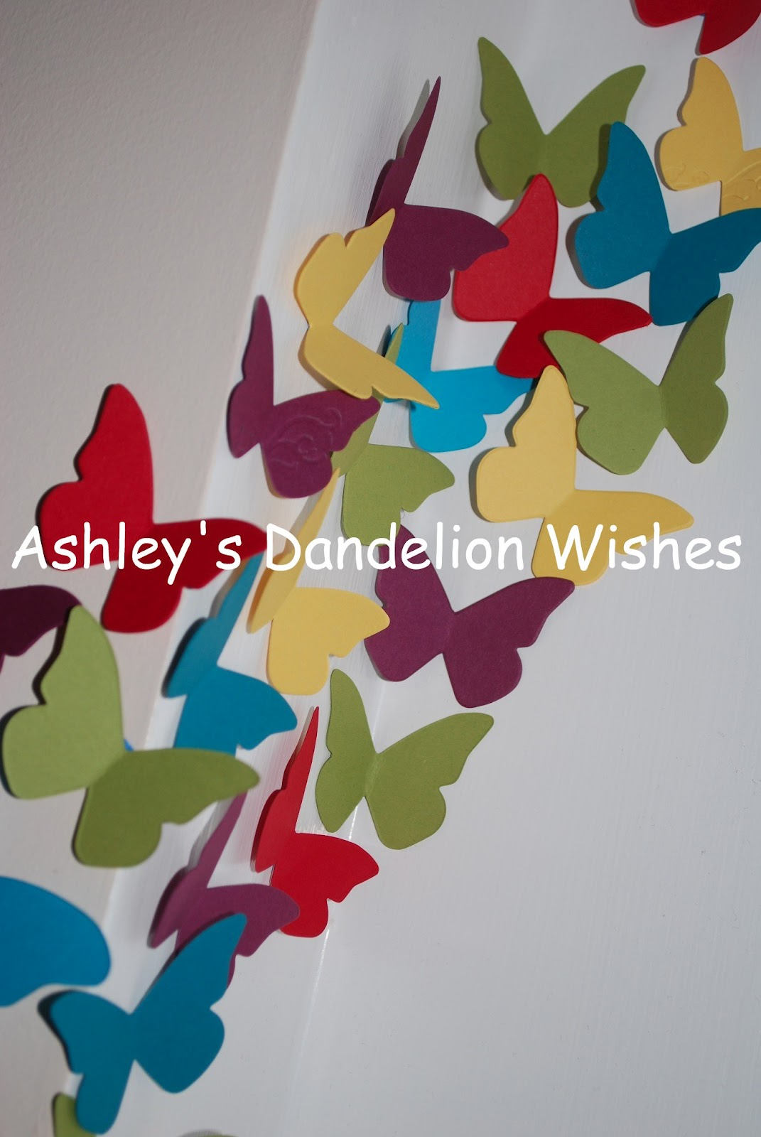 Ashley's Dandelion Wishes: DIY Butterfly Die Cut Wall Art