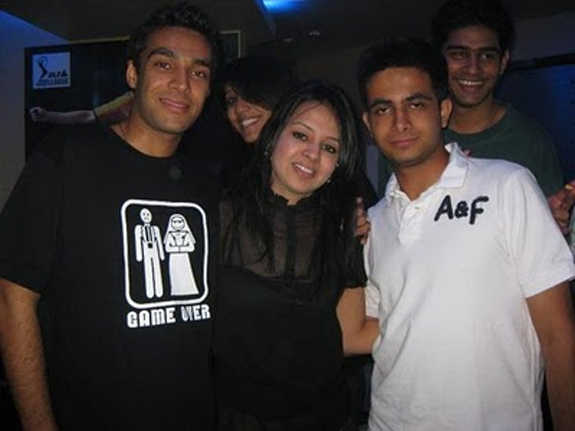Mrs Dhoni with her friends