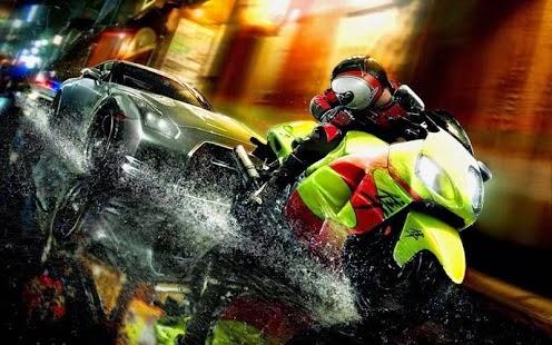 لعبة سباق الموتوسيكلات للاندرويد Night Moto Race